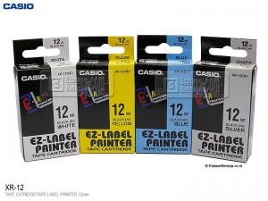 Casio 12mm Tape - XR12VWE Iron On Fabric Tape